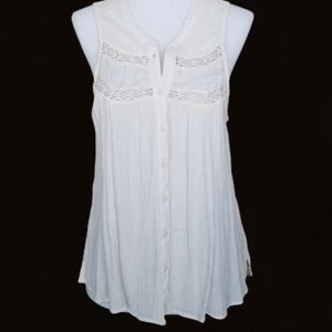 American Eagle Outfitters Sleeveless Boho Top XS